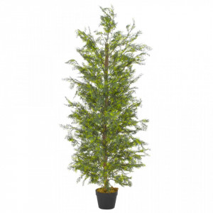 Plantă artificială chiparos cu ghiveci, verde, 150 cm