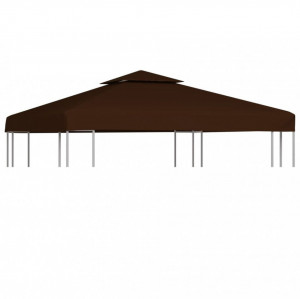 Acoperiș pavilion cu 2 niveluri, maro, 3 x 3 m, 310 g/m²