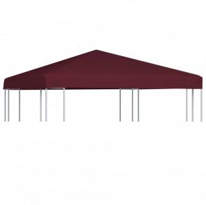 Acoperiș pentru pavilion, 310 g/m², roșu bordo, 3 x 3 m