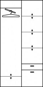 Aleksander 3 (Dulap Without Oglinda) Alder