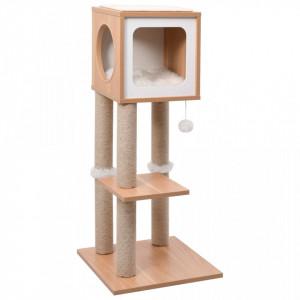 Ansamblu pentru pisici, covoraș din funie de sisal, 90 cm