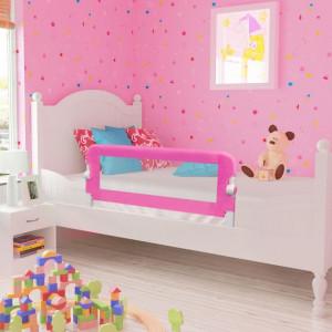 Balustradă de siguranță pentru pat de copil, roz, 102x42 cm