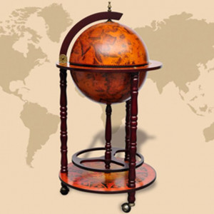 Bar tip glob pământesc stativ sticle de vin, lemn de eucalipt