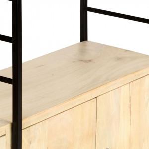 Bibliotecă cu 4 niveluri 80x30x180 cm lemn masiv de mango