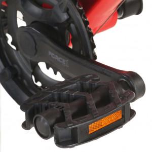 Bicicletă montană cu 21 viteze, roată 27,5 inci, roșu, 38 cm