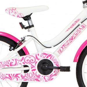 Bicicletă pentru copii, roz și alb, 18 inci