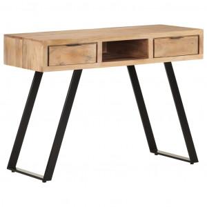 Birou, 110x50x75 cm, lemn masiv acacia cu margini vii