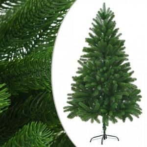 Brad de Crăciun artificial, ace cu aspect natural, 210 cm verde