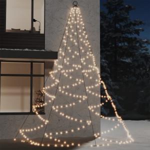 Brad de perete cârlig metalic alb cald 720 LED 5 int/exterior