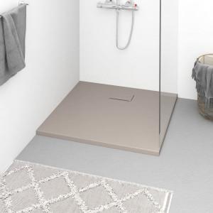 Cădiță de duș, maro, 90x80 cm, SMC