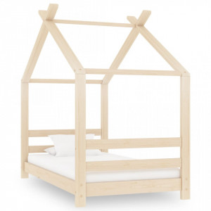 Cadru pat de copii, 70 x 140 cm, lemn masiv de pin