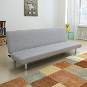 Canapea extensibilă, gri deschis, poliester