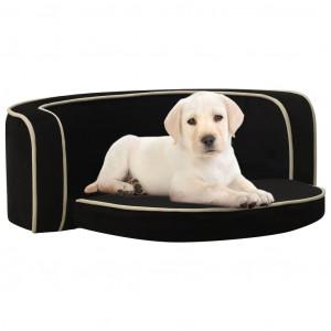 Canapea pliabilă de câini negru 73x67x26 cm pernă pluș lavabilă