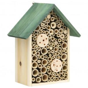 Casă pentru insecte, 2 buc., 23x14x29 cm, lemn masiv de brad