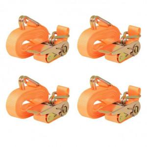 Chingi fixare cu clichet, 4 buc, 0,4 tone 6 mx25 mm, portocaliu