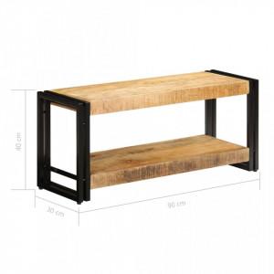 Comodă TV, 90x30x40 cm, lemn masiv de mango