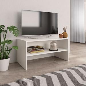 Comodă TV, alb, 80x40x40 cm, PAL