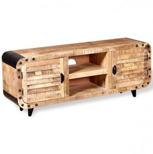 Comodă TV din lemn de mango aspru, 120 x 30 x 50 cm