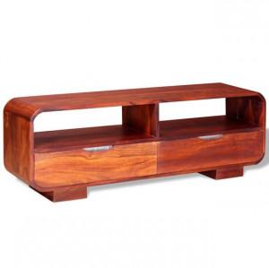 Comodă TV din lemn de sheesham masiv, 116 x 30 x 40 cm