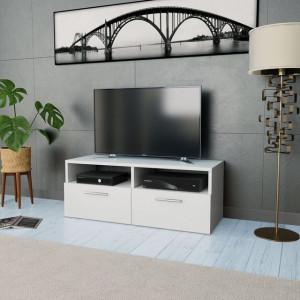 Comodă TV, PAL, 95 x 35 x 36 cm, alb