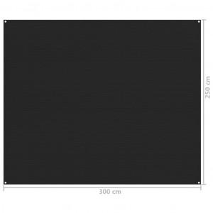 Covor pentru cort, negru, 250x300 cm