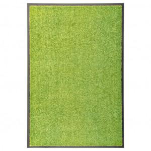 Covoraș de ușă lavabil, verde, 60 x 90 cm