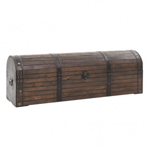 Cufăr de depozitare, lemn masiv, stil vintage 120 x 30 x 40 cm