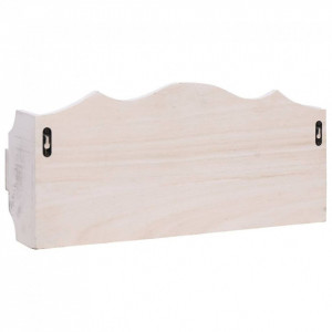 Cuier de perete, alb, 50 x 10 x 23 cm, lemn