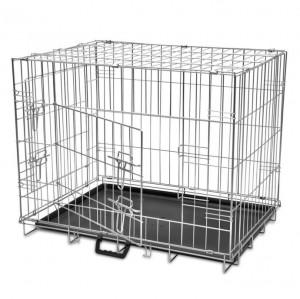 Cușcă pentru câini pliabilă, metal, M