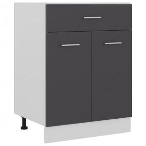 Dulap inferior cu sertar, gri, 60 x 46 x 81,5 cm, PAL