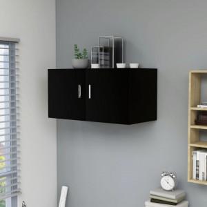 Dulap montat pe perete, negru, 80x39x40 cm, PAL