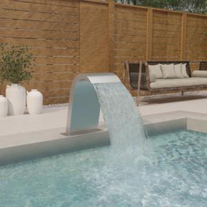 Fântână de piscină, 50x30x60 cm, oțel inoxidabil 304
