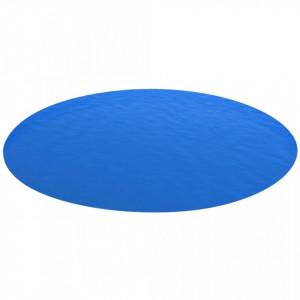 Folie solară rotundă din PE pentru piscină, 549 cm, albastru