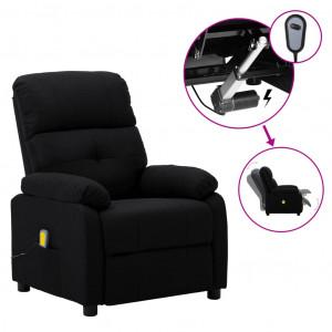 Fotoliu de masaj rabatabil electric, negru, material textil