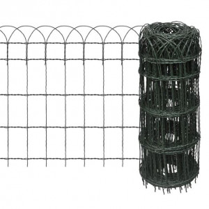 Gard delimitare grădină fier vopsit electrostatic 25 x 0,65 m