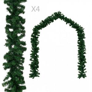 Ghirlande de Crăciun, 4 buc., verde, 270 cm, PVC