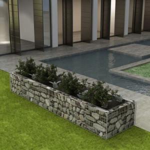 Jardinieră gabion din oțel, 360 x 90 x 50 cm