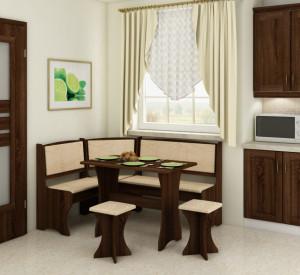 kitchen corner set with stools | MONACO/S.DARK