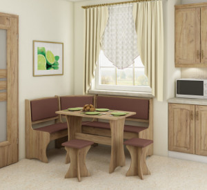 kitchen set with stools | ECO BROWN/CRAFT GOLD