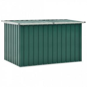 Ladă de depozitare pentru grădină, verde, 149 x 99 x 93 cm