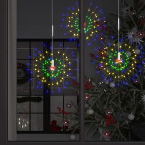 Lampă cu artificii de Crăciun 140 LED-uri multicolor 50 cm ext.