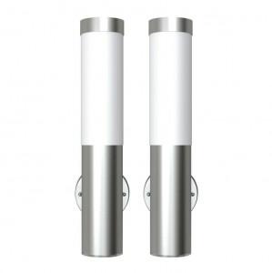Lampă de exterior din oțel inoxidabil 2 buc