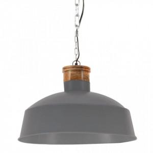 Lampă suspendată industrială, gri, 58 cm, E27