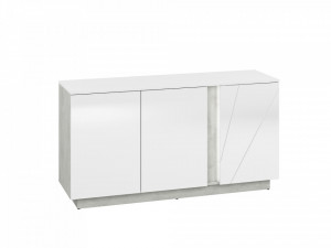 Lumens 08 comoda beton/white high gloss