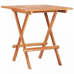 Masă de bistro pliabilă, 60 x 60 x 65 cm, lemn masiv de tec