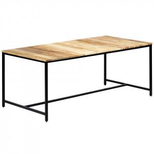 Masă de bucătărie, 180x90x75 cm, lemn masiv de mango nefinisat