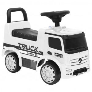 Mașinuță pentru pași Mercedes-Benz, albă