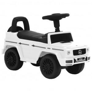Mașinuță pentru pași Mercedes-Benz G63, alb