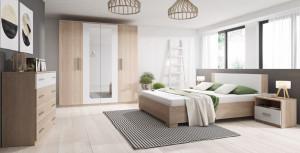Mobila Dormitor Markos Sonom Oak/White
