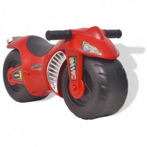 Motocicletă fără pedale din plastic pentru copii, roșu